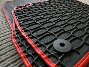 Fußmatten $ RAND SILBER Gummi $$$ Gummimatten für Mitsubishi Eclipse Cross
