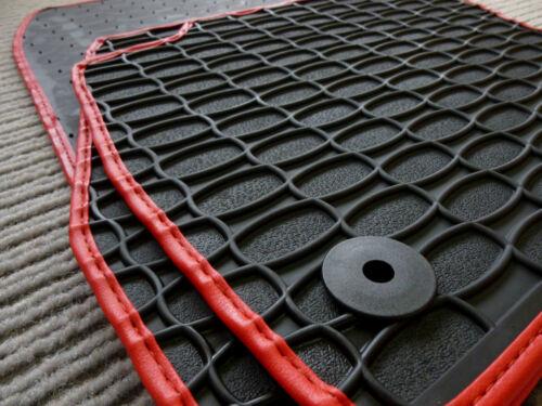 Fußmatten Lengenfelder Gummimatten für Peugeot 206 CC Cabrio NEU RAND ROT