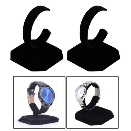 2 Samt C-Typ Schmuck Armband Armreif Uhr Display Rack Ständer Halter