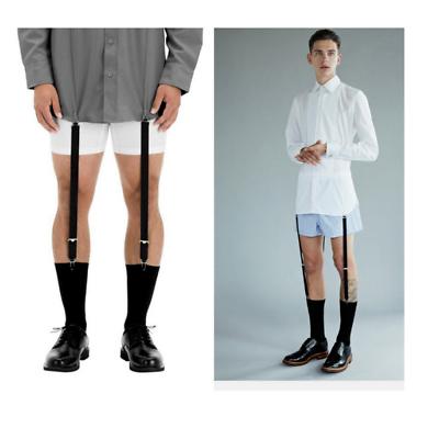 1 Pair Mens Stays Holders Shirt Garter Non-Slip Locking Clamps Belt Uniform