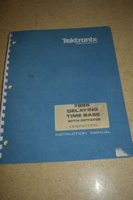 TEKTRONIX 7B85 DELAYING TIME BASE INSTRUCTION MANUAL 1975 (M47)