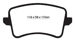 # DP41988R EBC Yellowstuff REAR Brake Pads fit AUDI