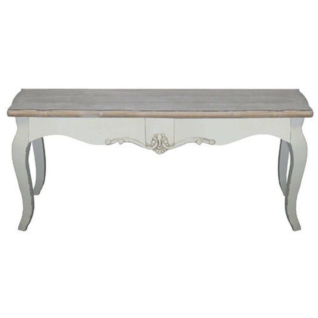 French coffee table ebay shabby chic coffee table 120cm loire range french style furniture antique cream geotapseo Choice Image