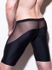 Cuissard Boxer long noir Taille L  transparent sheer plum sexy  Ref 319