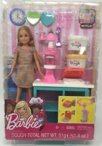 Mattel-Barbie-Sisters-Stacie-Doll-Breakfast-Waffle-Maker-Kitchen-Set-with-Dough