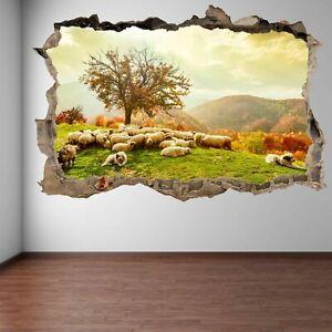 Dettagli su OVINI Piante Alberi Autunno Paesaggio Adesivi Murali Murale  Decalcomania Bambini Camera EA13- mostra il titolo originale