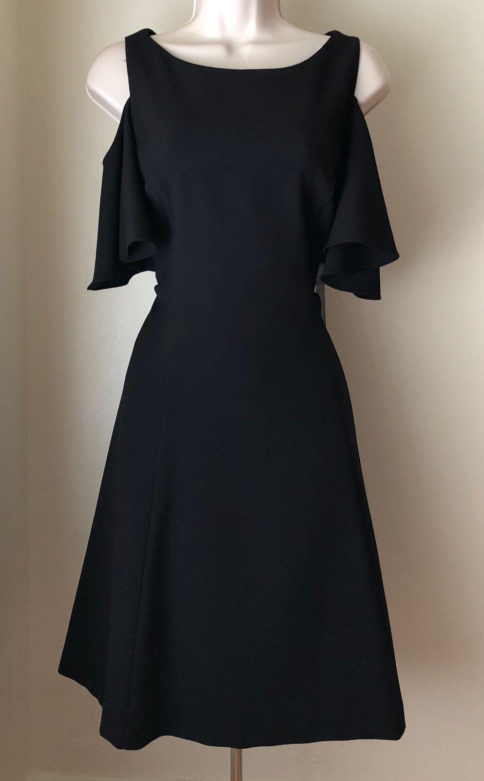 Eliza J Short Flutter Sleeve Cold Shoulder Fit & Flare Dress EJ7M4782 NWT 8