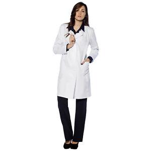 Medico Casacca Camice Donna Cotone Farmacista Sanitario Infermiera R54ALc3jq