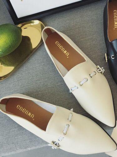 Femmes Noir Chaussures Ballerines Élégant Pour Mode Mocassins Confortable Blanc qx6Itzw
