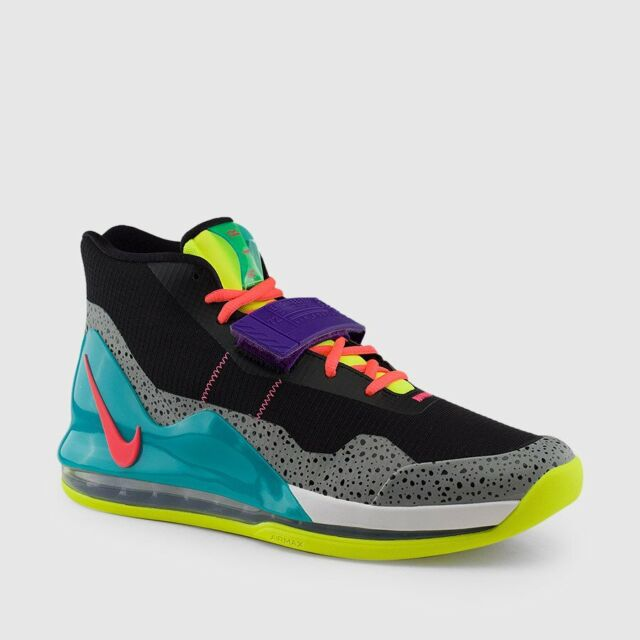 Nike Air Force Max Black Hot Punch Volt Basketball Shoes ( Ar0974 005 ) Size 11