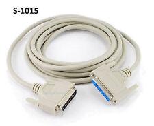 15ft DB25 Multi Purpose RS-232 Serial M/F Straight-Thru Printer Extension Cable