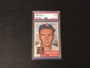1953 Topps Sammy White #139 PSA 7 NM Boston Red Sox Just Graded