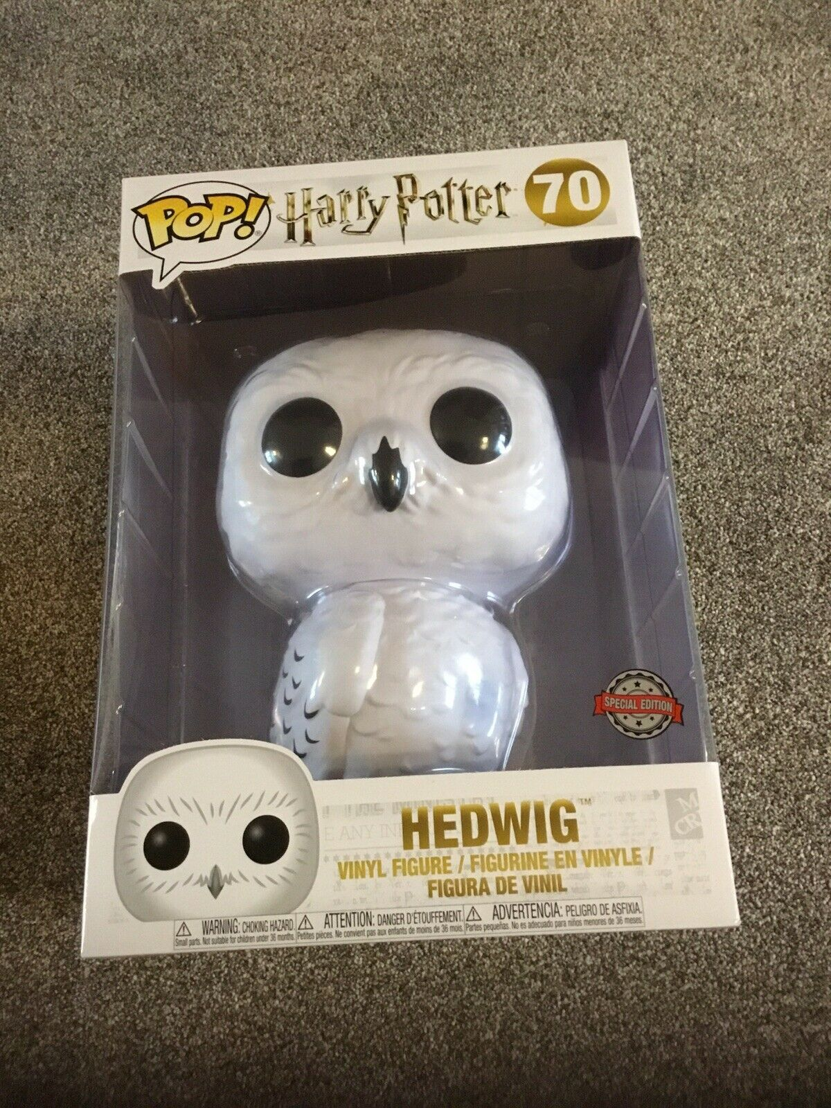 Harry Potter divertiessitoko Pop Edvige cifra 70 grei cifra NUOVO