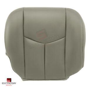 2006 2007 Chevy Silverado PASSENGER Seat Bottom Replacement Cover Gray Vinyl