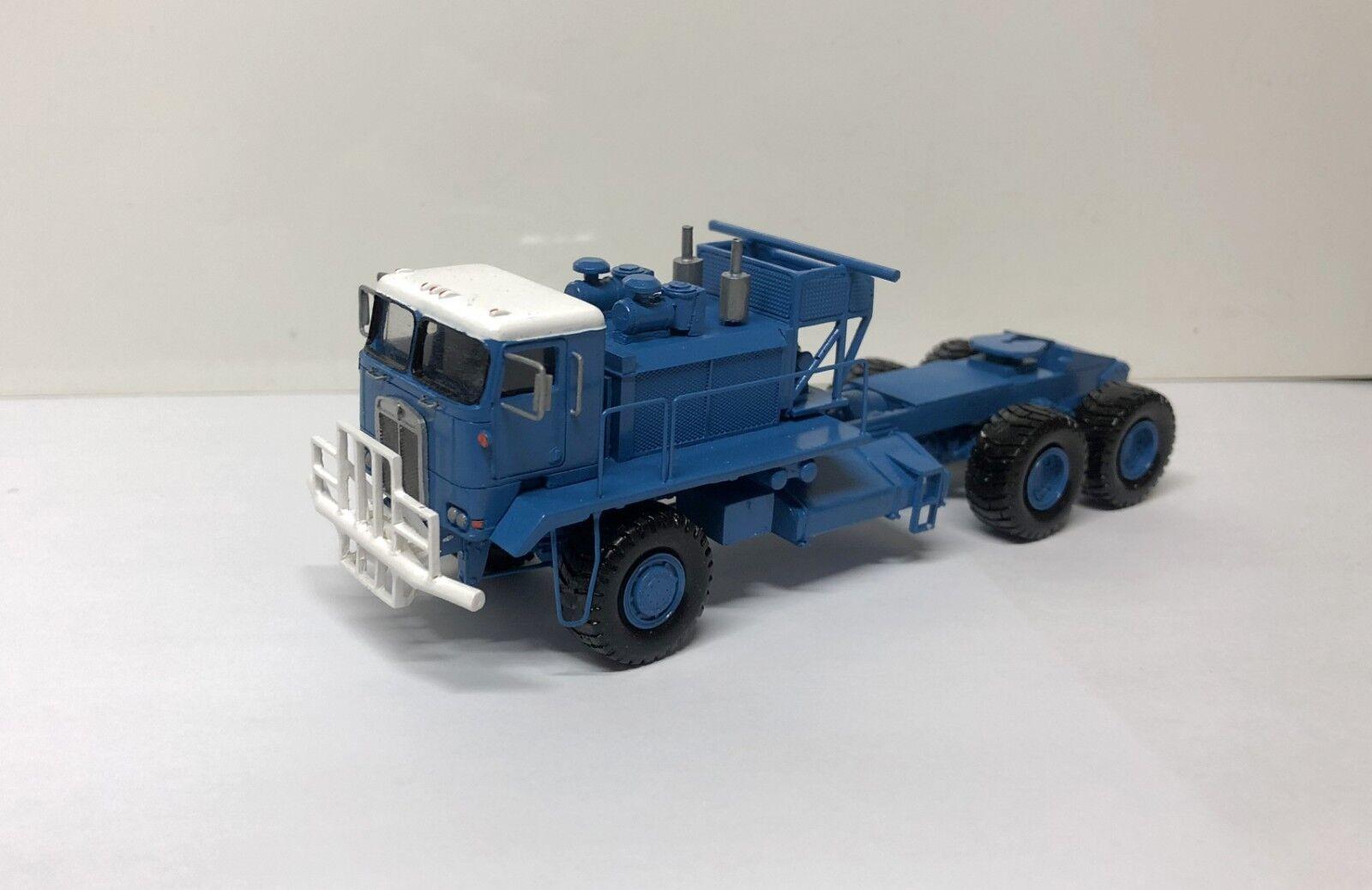 HO 1 87 Kenworth 993 COE Oilfield - blueee - Ready Made Resin Model