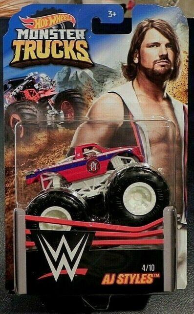 HOT WHEELS Mattel Monster Trucks WWE AJ Styles #4 of 10. NEW ON CARD