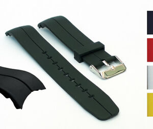 Curved-End-Watch-Strap-20mm-or-22mm-Replacement-Straps-Mens-Rubber-Polyurethane