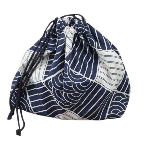 Portable Lunch Box Bento Carry Tote Picnic Case Drawstring Storage Bag Pouch