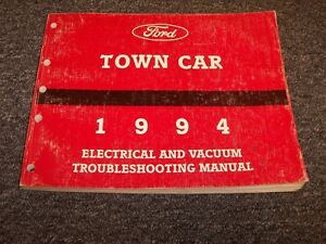 1994 Lincoln Town Car Sedan Electrical Wiring & Vacuum ...