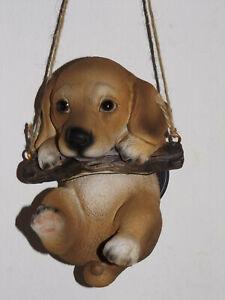 Hund Yorkshire Terrier SchwarzBraun Dekofigur Deko Tier Polyresien 15x10x10