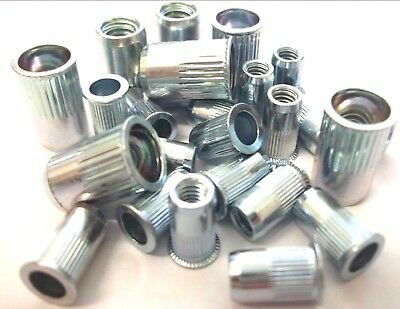 *Top Quality! Serrated Blind Nutserts Steel Pack of 50 Rivnuts 8mm