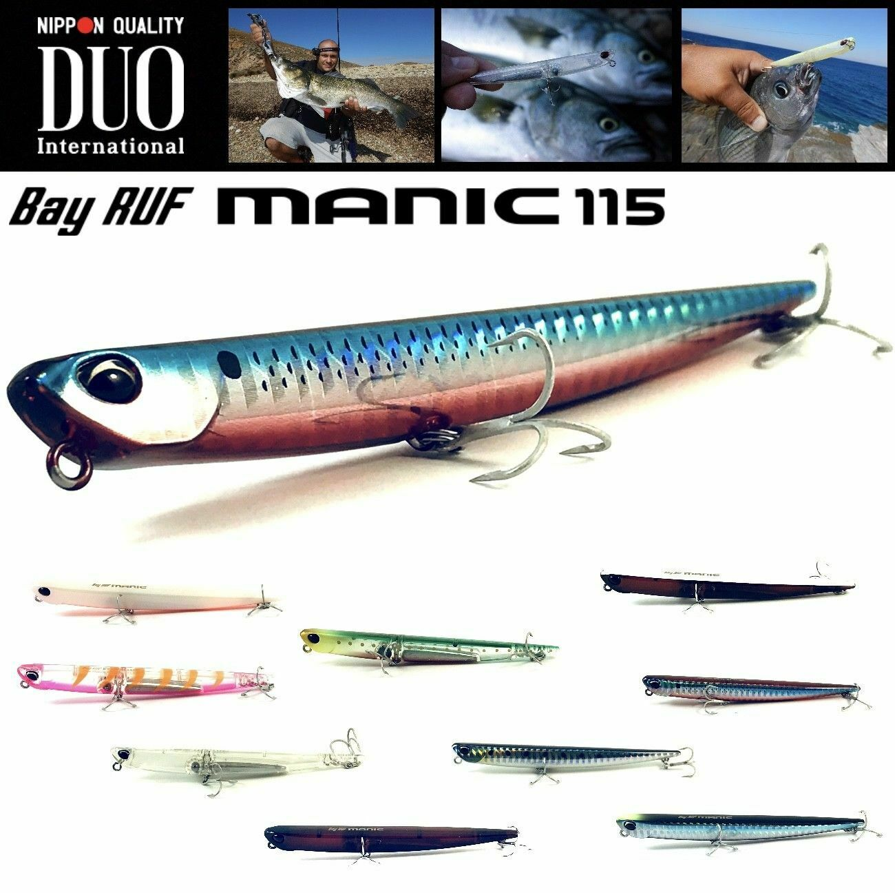 9668 Duo Bay Ruf Manic 75 Pencil Sinking SMA0036