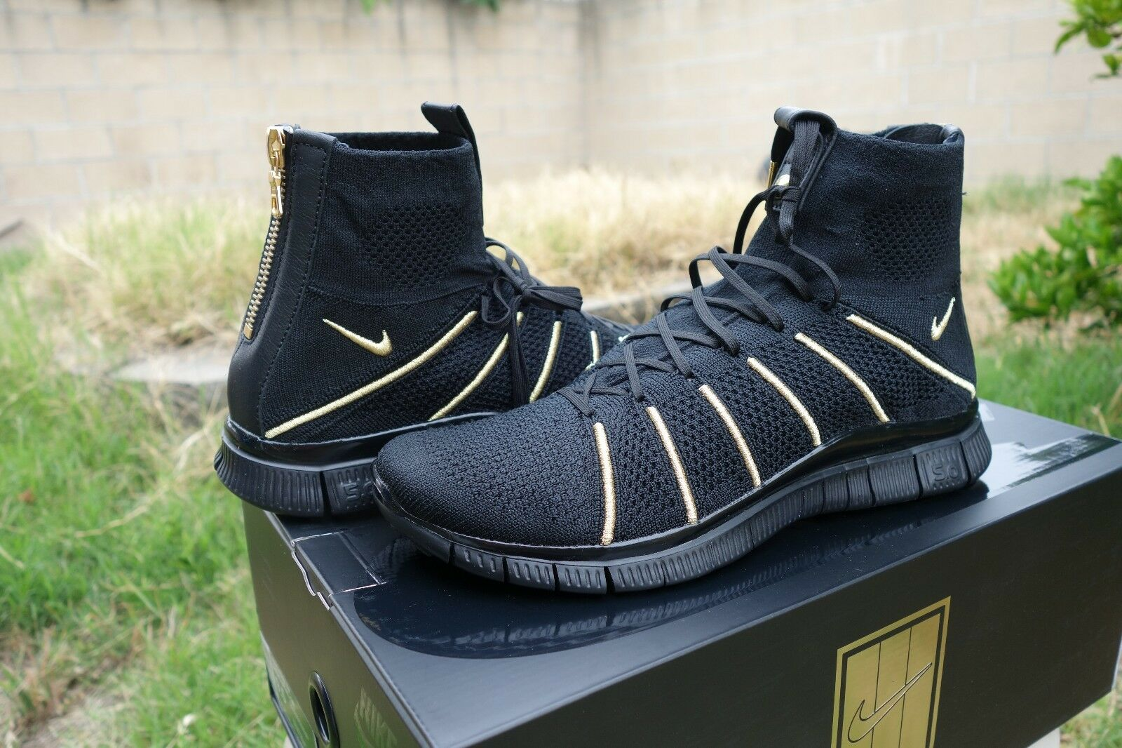 Nike Free Flyknit Mercurial X Olivier Rousteing Taille 9.5 834906-007 Balmain