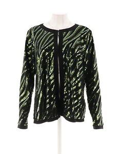 Bob oliva A271125 gioiello scollatura maniche 746477946471 M lunghe con Mackie giacca paillettes Nuovo Missy rqpzw7rnU