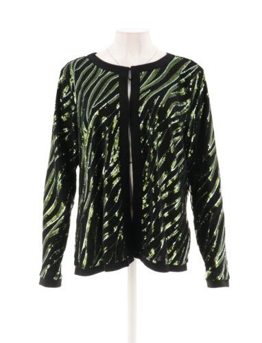 scollatura M giacca gioiello A271125 maniche oliva lunghe Mackie Nuovo con 746477946471 Missy Bob paillettes 86RqXw