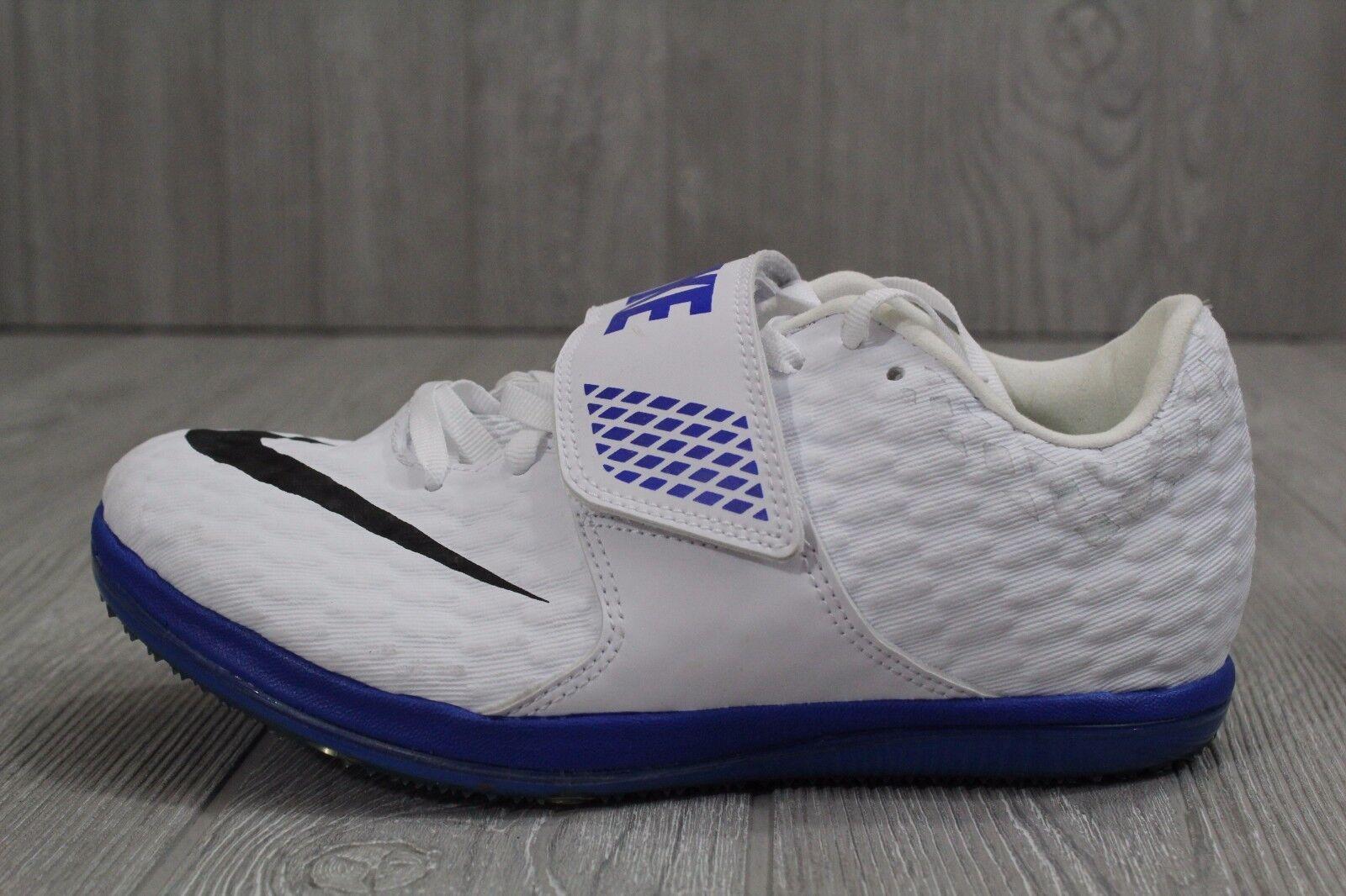 23 New Nike Uomo HJ High Jump Elite White Track Spikes 806561-100 4.5 -13