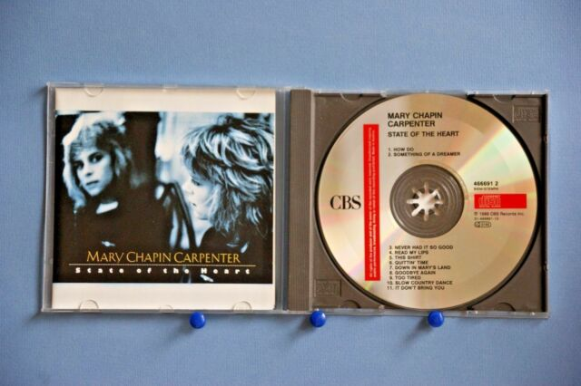 MARY CHAPIN CARPENTER – STATE OF THE HEART - 11 TRACK 1989 CD - 1ST CLASS MAIL