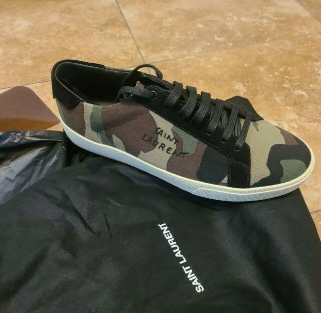Saint Laurent Camouflage Canvas Court Classic SL/06 sneakers Size 8 / EU 42 NIB
