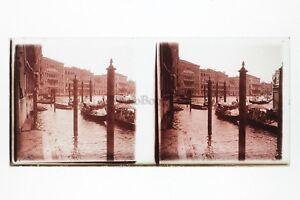 Venezia-Italia-Foto-Amateur-Placca-Da-Lente-N4-Stereo-Ca-1920