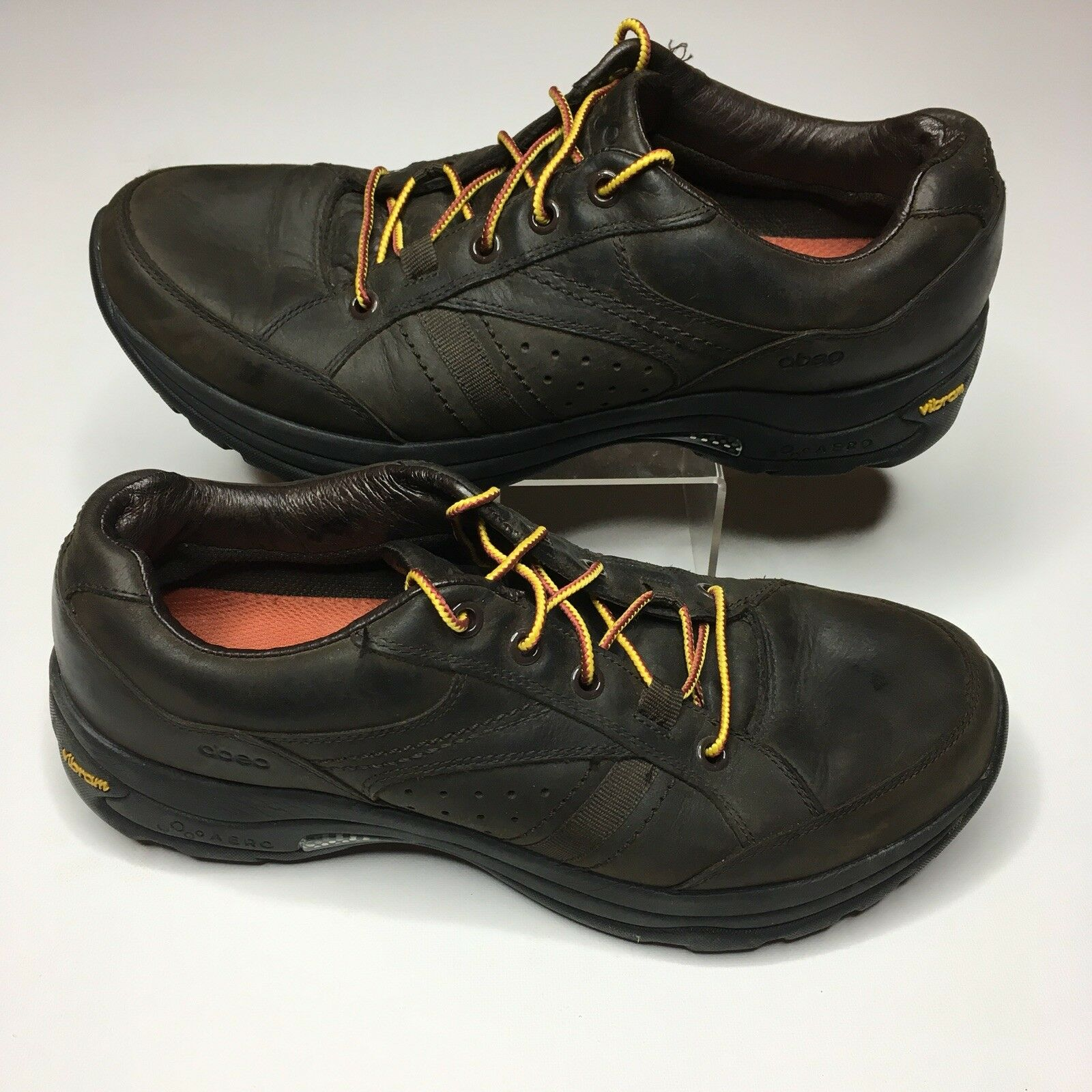 Abeo brown Leather shoes Vibram Soles Mens 8.5
