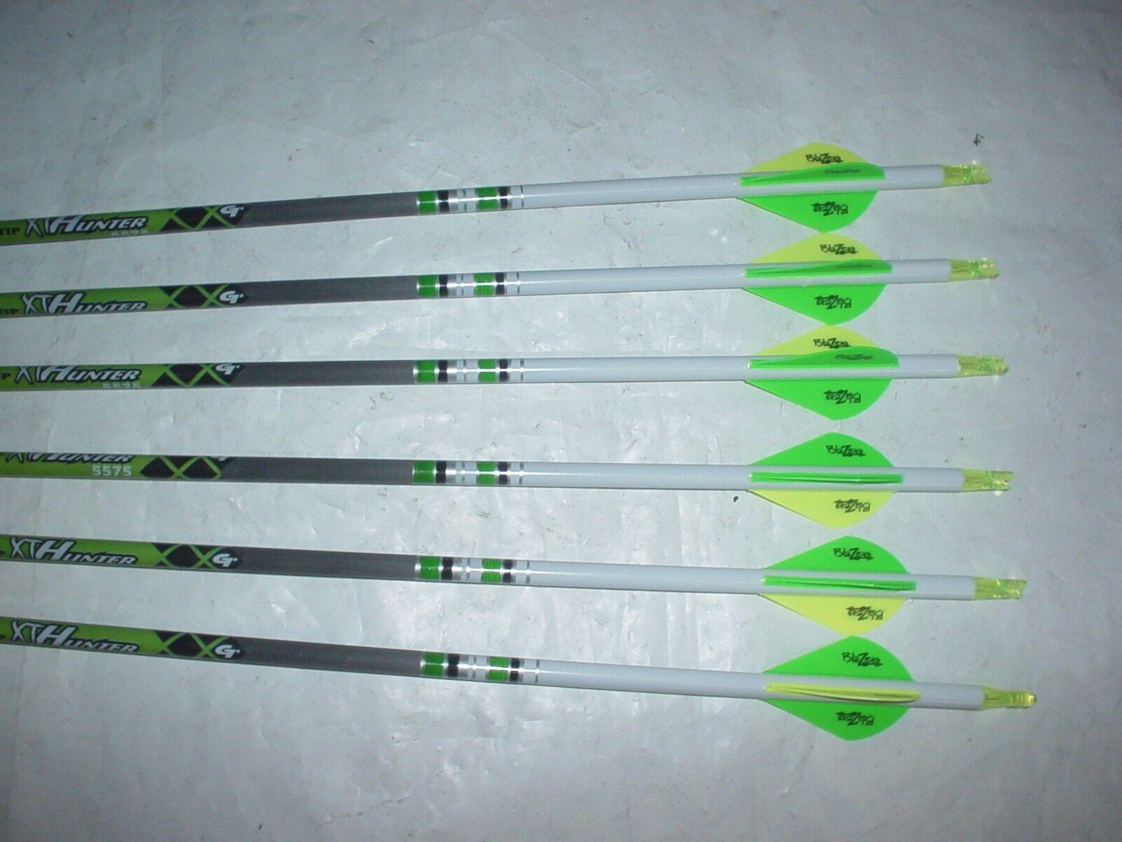 6 Punta De oro Cazador XT 500  Flechas De Cochebono Dip Crest Blazer Paletas blancoos personalizado  mejor vendido