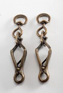 Vintage-Bronze-Plated-Steel-Key-FOB-Clasp-For-Projects-Key-Chains-NOS-Germany