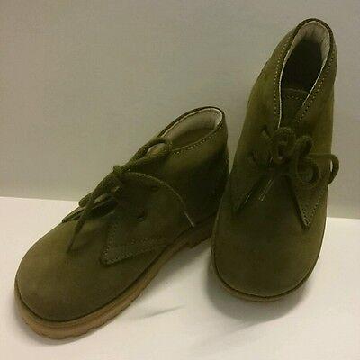 BABY Jungen Kinder Schuhe Herbst MADE IN ITALY Gr. 20 Grün LEDER NEU