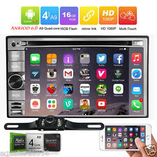 """Android6.0 3G WIFI 6.2"""" Double 2DIN Car Stereo DVD Player GPS Navi Radio+Camera"""