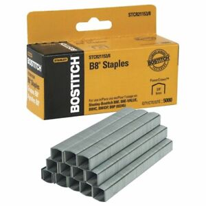 STCRP211514 Bostitch B8 PowerCrown 0.25 Staples Pack of 5000 Staples
