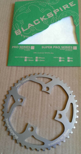 Blackspire nc-17 Pro Chainring 104mm Hole Circle 46 Z SILVER NOS 8-compartment