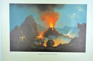 EN09-Ecole-napolitaine-du-XIX-peinture-Vesuve-eruption-1831-interieur-Vesuvio