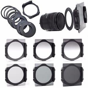 Cokin-Neutral-Density-ND-Filter-Set-ND2-ND4-ND8-Gradual-Holder-9pcs-P-Ring