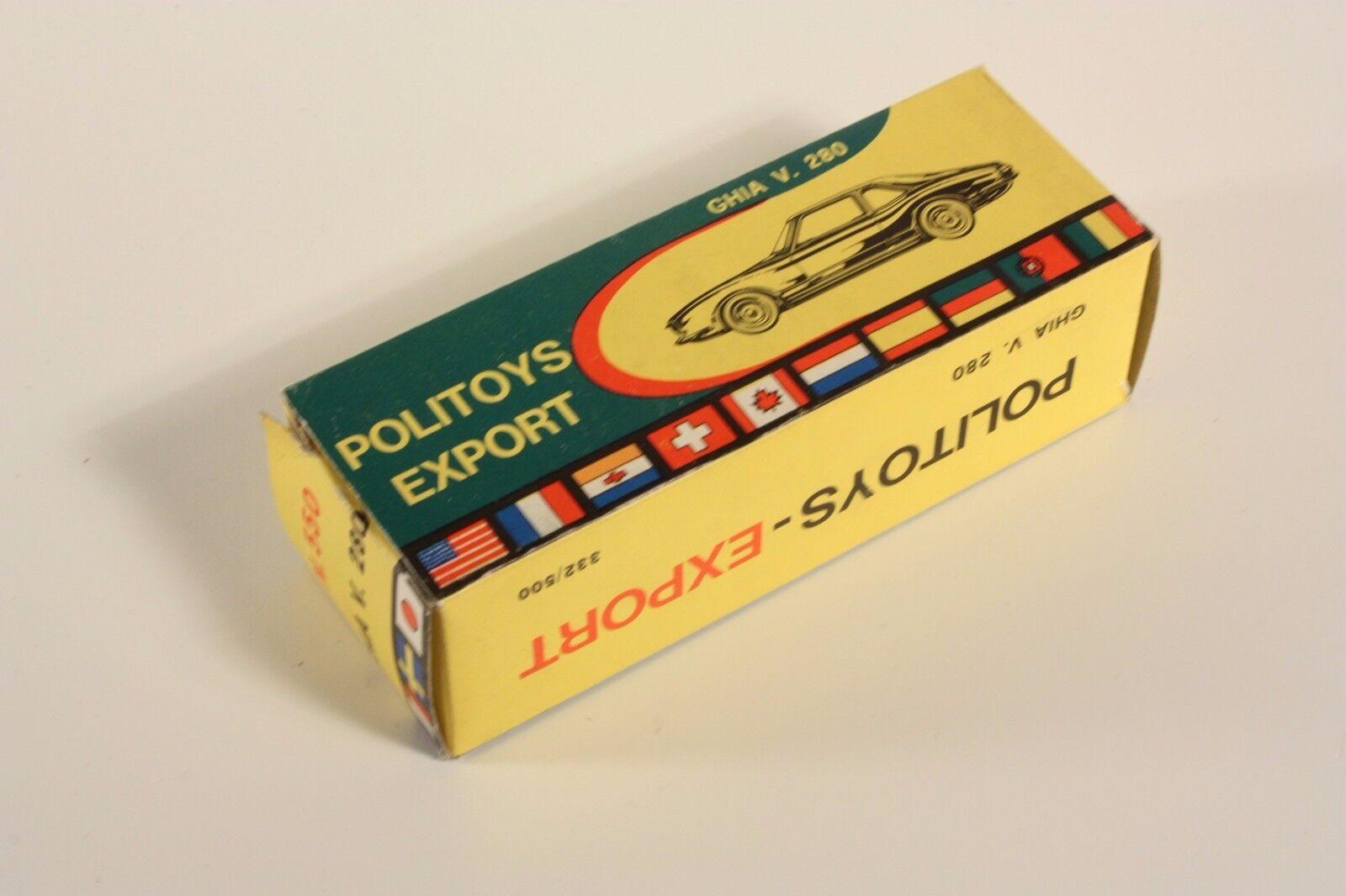 POLITOYS 550, GHIA V 280, ONLY BOX  ab2117