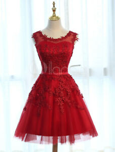 Homecoming Dresses Short Prom Dresses Lace Applique Tulle Tutu Party New Size 10