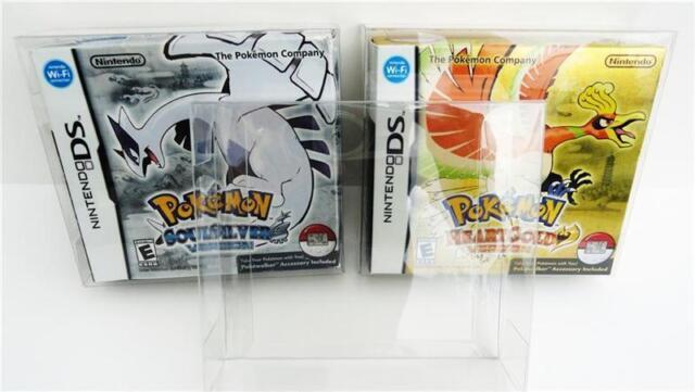 1 Box Protector for Pokemon Heartgold / Soulsilver Clear case  Nintendo DS READ!