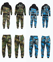 Men's Camouflage Tracksuit Jogging Bottom Sweat Suits Hoodies UK S M L XL