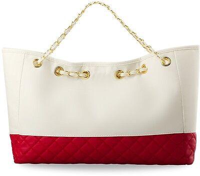 Shopper Bag gesteppte Damentasche Zweifarbig Handtasche Einkaufstasche