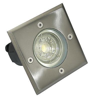 230V Gartenstrahler Boden Einbaustrahler Edelstahl Bodo GU10 für Halogen und LED
