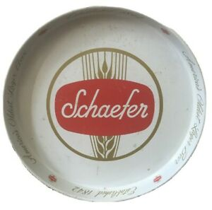 1960-039-s-F-amp-M-Schaefer-America-039-s-Oldest-Lager-Beer-Tray-Metal-Two-Sided-New-York