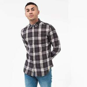 Crosshatch-Men-039-s-039-Hilmas-039-Shirt-with-Long-Sleeve-Check-Shirt-3-Colours